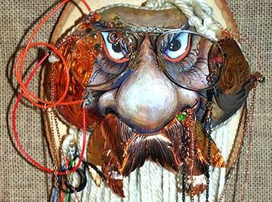 Wood Spirit Gourd Masks