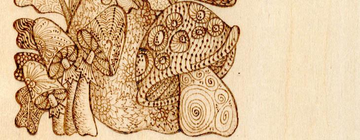 Pyrography Doodles #6