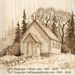 Country Church Wood Burning