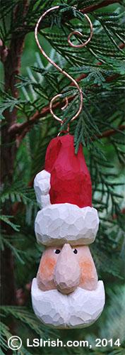 Free wood carving santa ornament pattern by lora s irish
