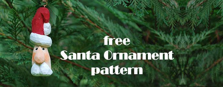 Free Wood Carving Santa Ornament Pattern