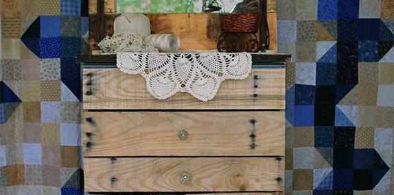 DIY Eclectic Primitive Pallet Dresser