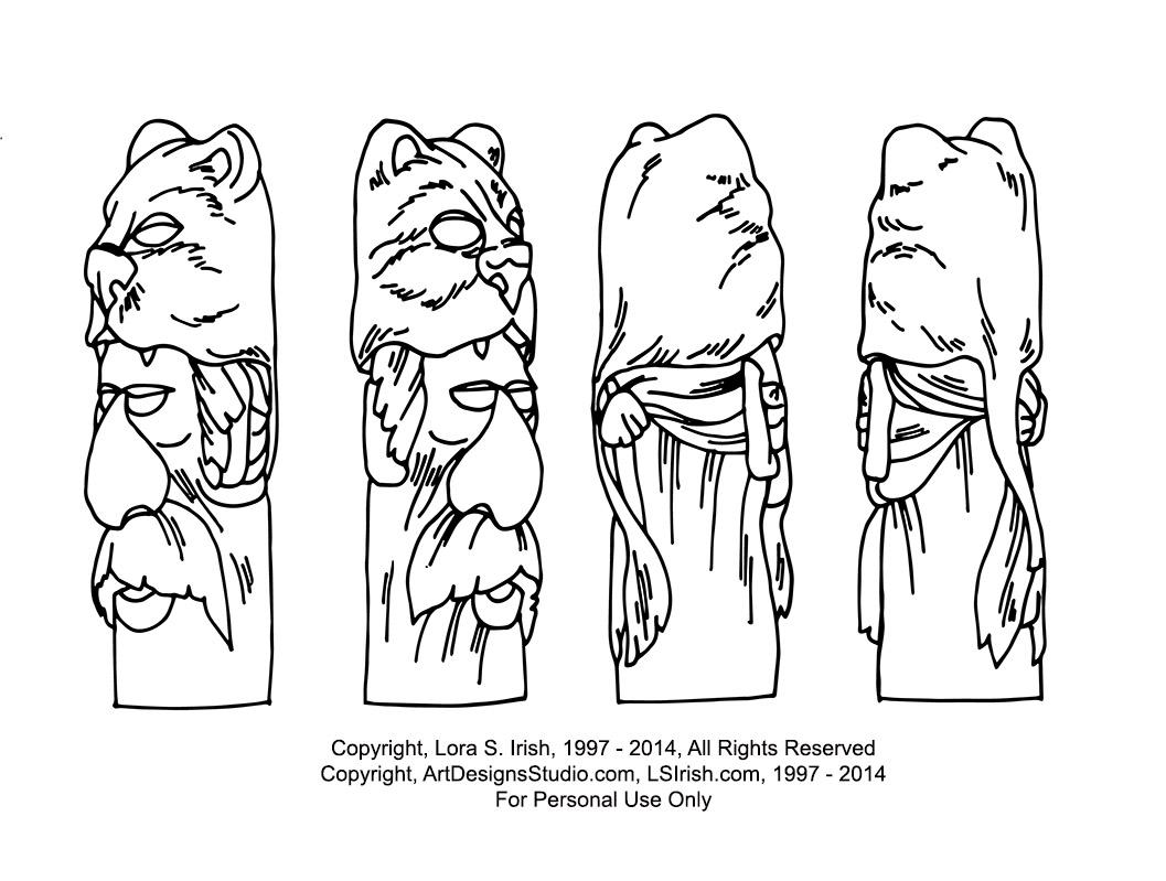 Free mountain man cane carving pattern by lora irish