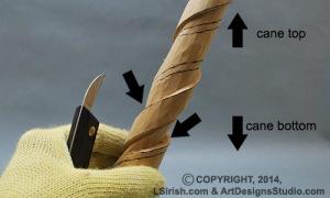 walking stick wood carving