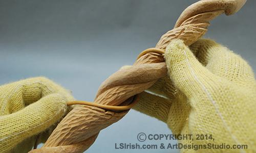 Free wood carving project sassafras twistie stick snake