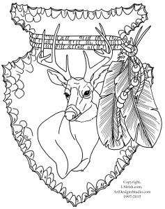Free Lora Irish Mule Deer Carving Pattern