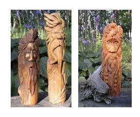 beginner's wood spirit carving