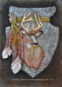 Mule Deer Relief Wood Carving Free Project
