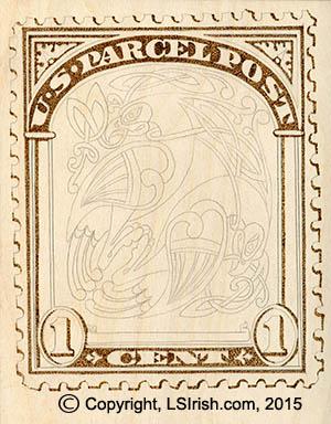postage stamp pyrography pattern