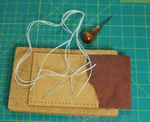 leather crafting, double needle stitching