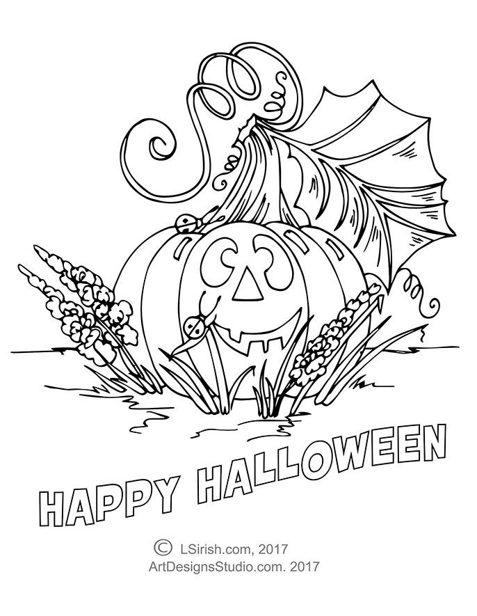 L S Irish pumpkin pattern