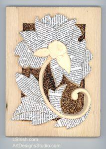 decoupage book art