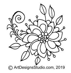 free doodle pattern
